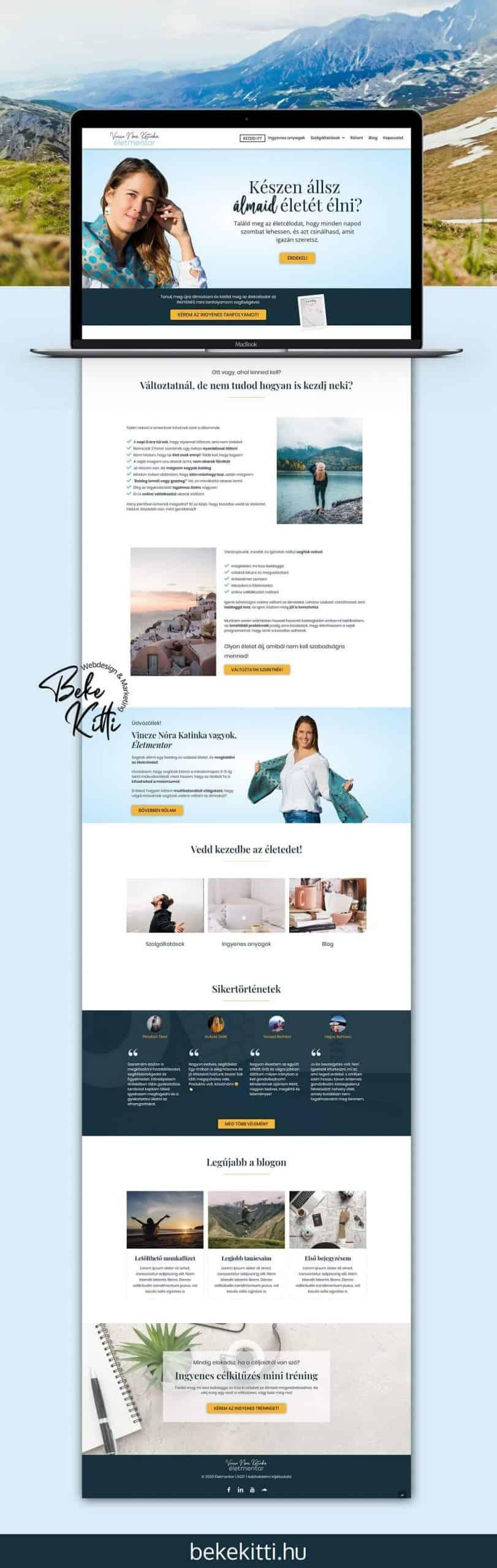 Beke Kitti Weboldal Referencia Eletmentor